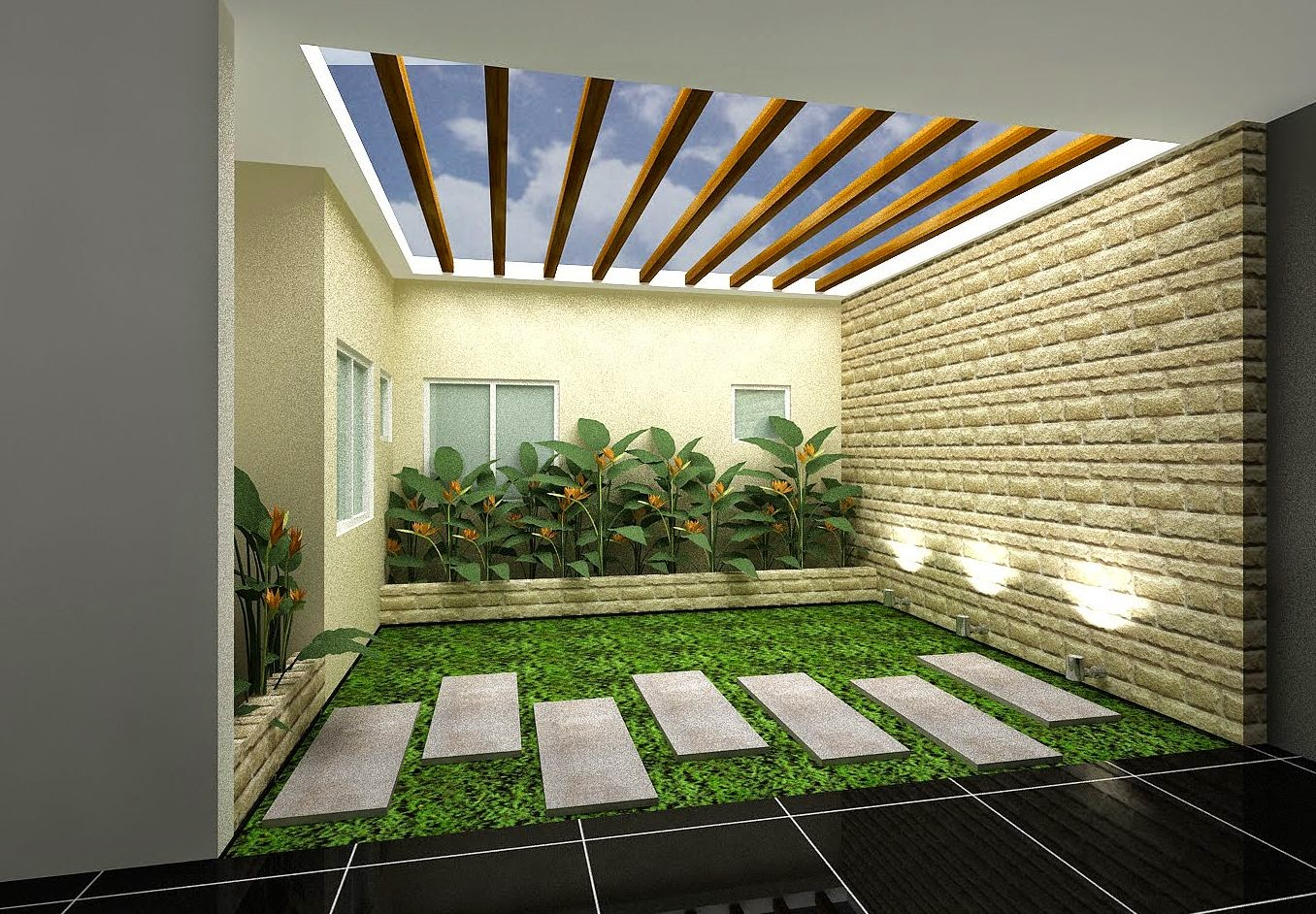 Garden Inside House Desgn