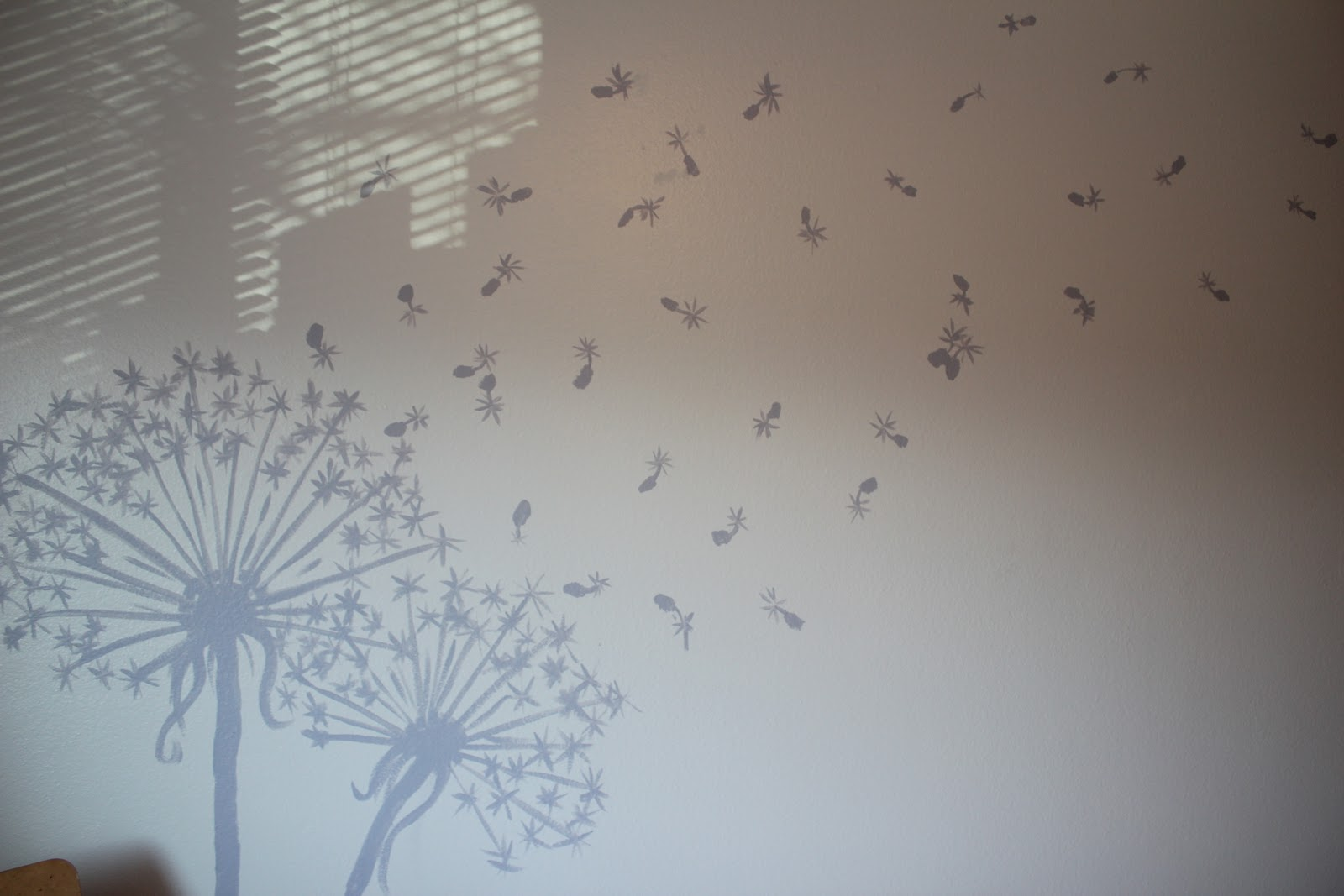 Welcome to apartment 205b dandelion mural for Dandelion wall mural