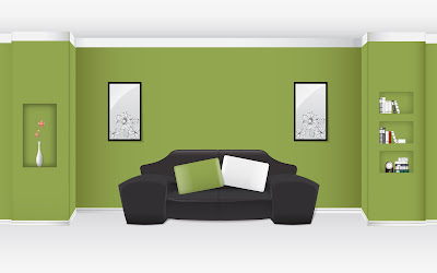 Digital Arts Interior With Best Green Family Room