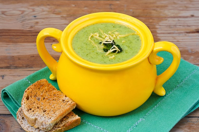 Healthy Skinny Broccoli Cheese Soup image
