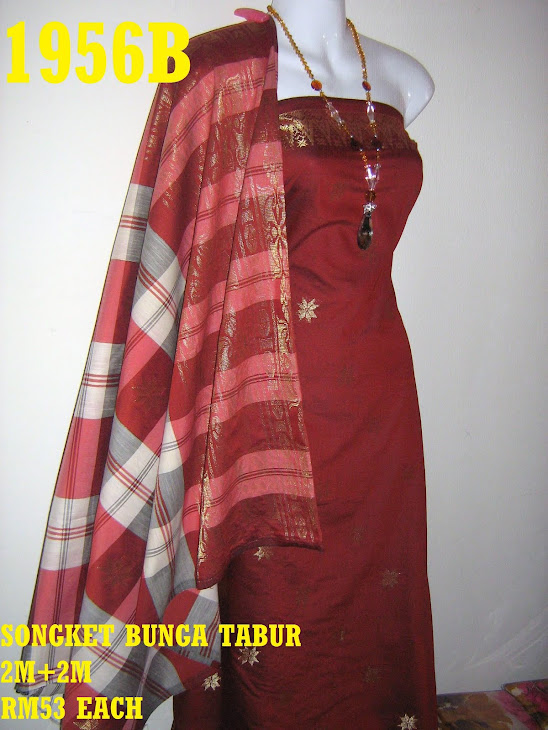 SBT 1956B: SONGKET BUNGA TABUR, 2M+2M, MATERIAL COTTON