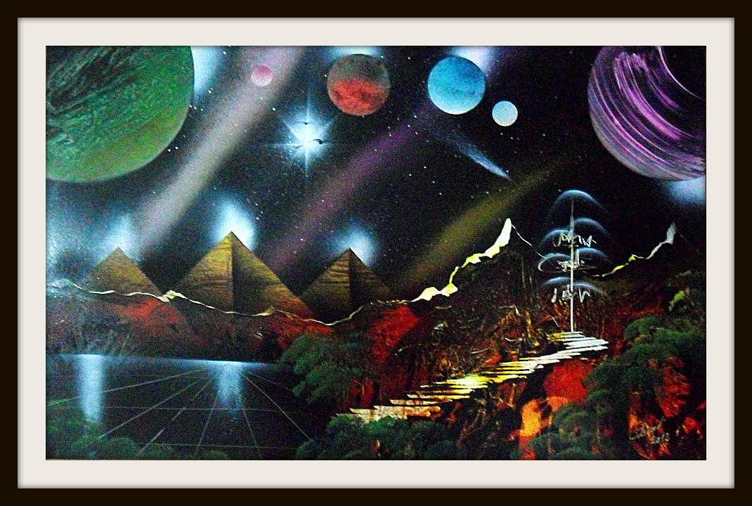 Aerosolgrafias pinturas con aerosoles spray painting - Cuadros pintados con spray ...
