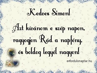 Simon névnap - Január 5