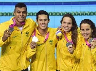 Nadadores conquistam 1ª medalha brasileira nos Jogos da Juventude