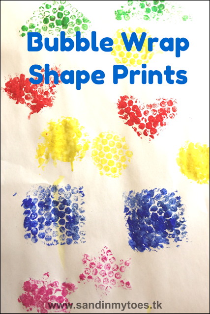 Bubble wrap shape printing activity for toddlers and preschoolers.
