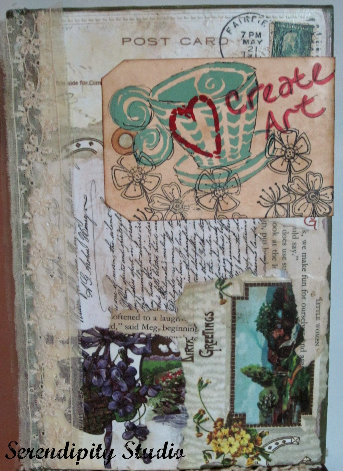 altered book, art journal book