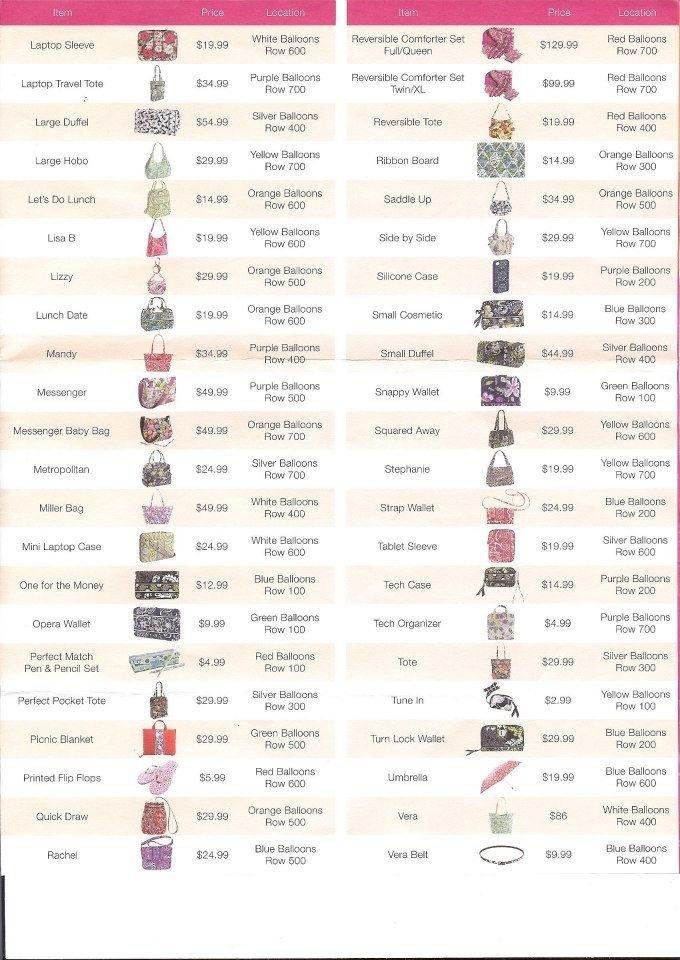 2f52184d739d Vera Bradley Handbags  2015 Vera Bradley Outlet Sale Price List