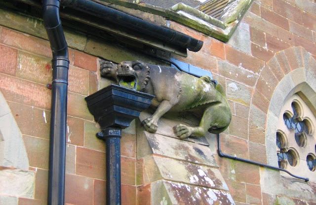 Blymhill Church's 'vomiting-lion' gargoyle