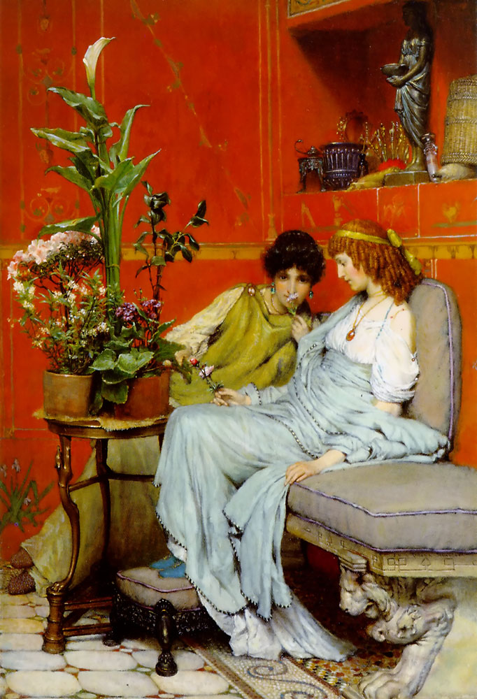 alma-tadema confidences painting
