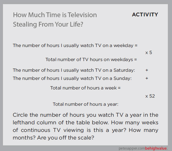 watch less tv