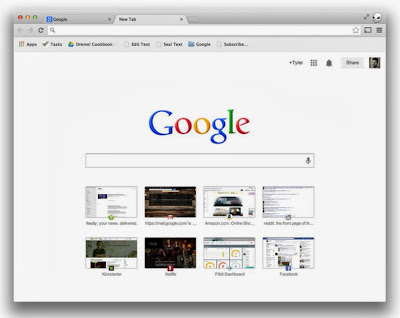 Update New Look Google Chrome Tab