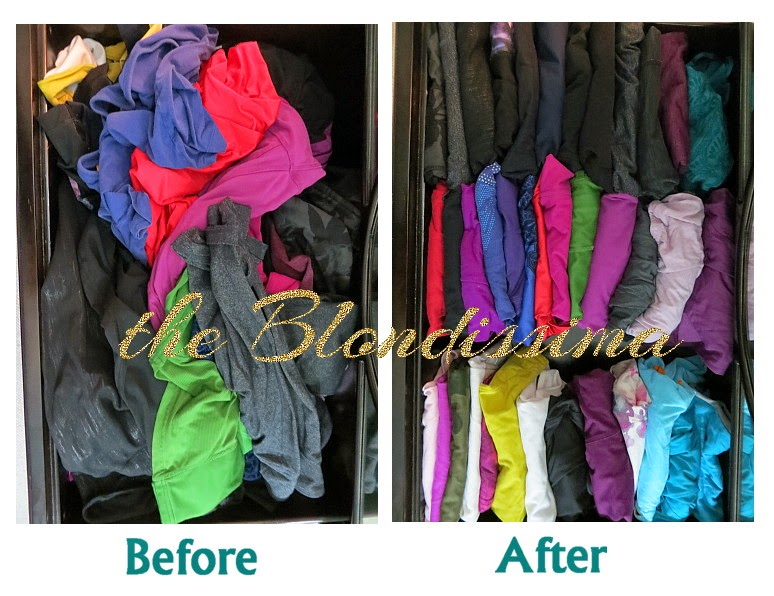 folding clothes vertically the blondissima. Black Bedroom Furniture Sets. Home Design Ideas