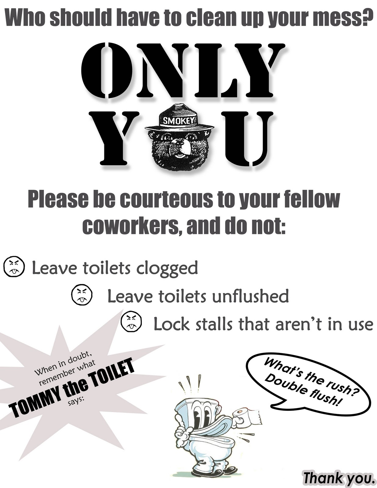 Printable Signs For Bathroom Etiquette In Workplace Just B CAUSE
