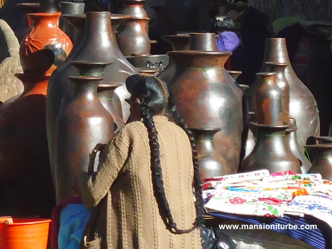 Artisans from different villages come to Patzcuaro to sell their handicrafts