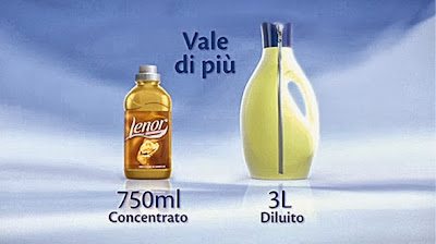 Lenor ammorbidente comparazione diluito - concentrato