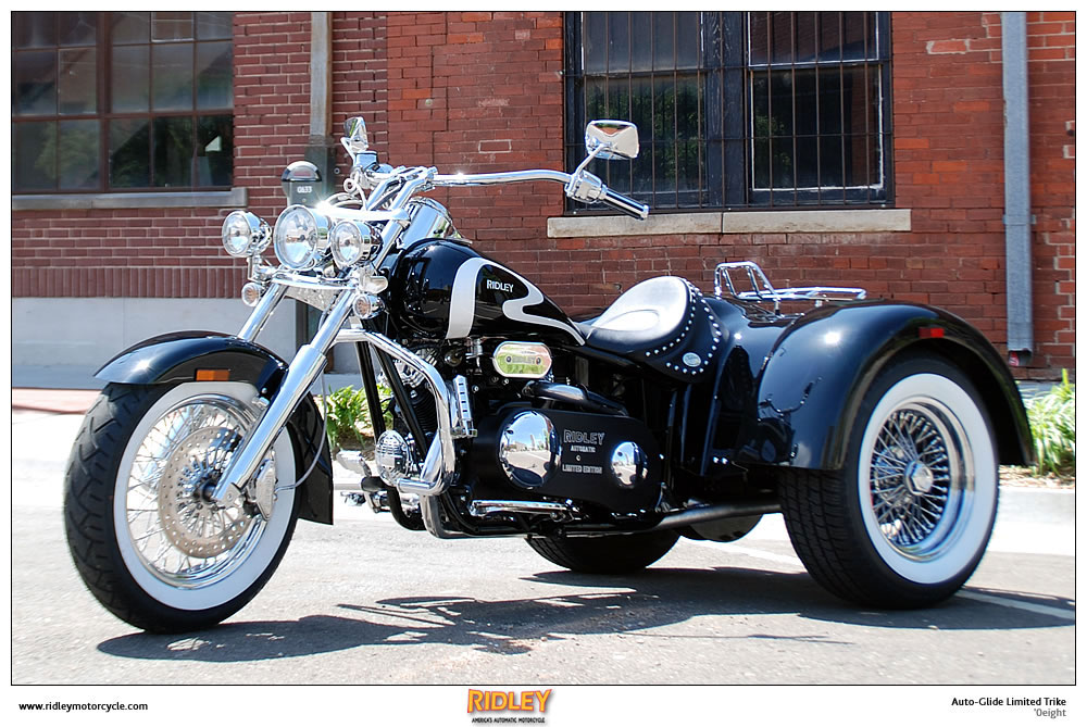 motorcycle pictures ridley auto glide trike limited edition 2008 only 6 produced. Black Bedroom Furniture Sets. Home Design Ideas