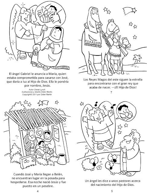 PARA COLOREAR: Historia de Navidad para colorear