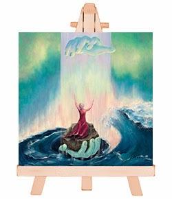 belijdenis en doop cadeau Wees niet bang, mini schilderij. Bijbelse kado artikelen Atelier for Hope