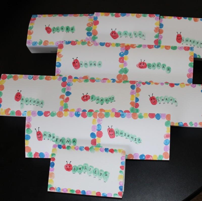 Very Hungry Caterpillar Place Cards Puttis World Kids Activities