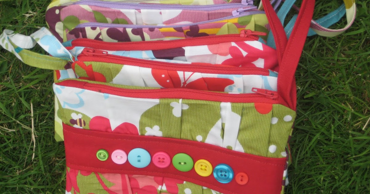 kitchen table sewing button bags