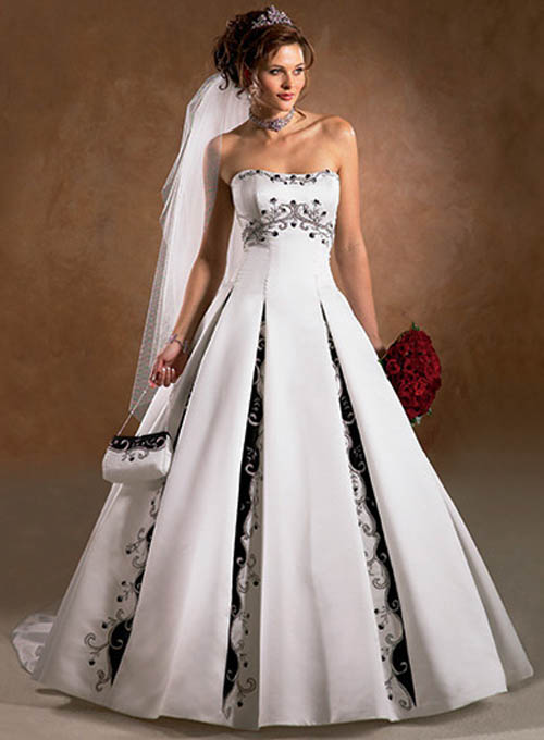 Luxury wedding fashion: wedding gowns with color accents images