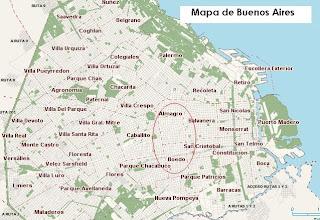Mapa de los barrios de Buenos Aires, Argentina
