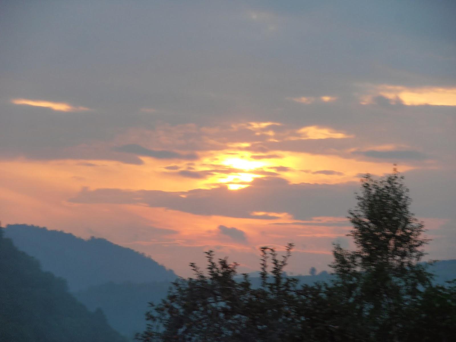 Pieniny Zachód słońca