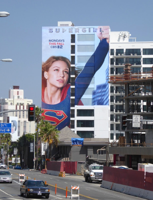 Giant Supergirl season 1 billboard Sunset Strip
