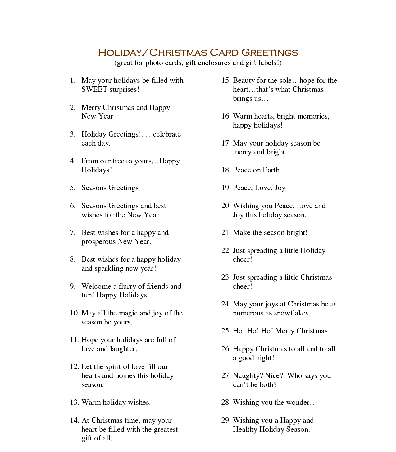 Christmas Card Sayings Non Religious All Ideas About Christmas And