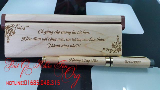 Mua bút gỗ khắc tên làm quà tặng tại Hà Nội giá rẻ