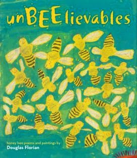 http://www.amazon.com/UnBEElievables-Honeybee-Paintings-Douglas-Florian/dp/1442426527/ref=tmm_hrd_title_0?ie=UTF8&qid=1398090482&sr=1-1