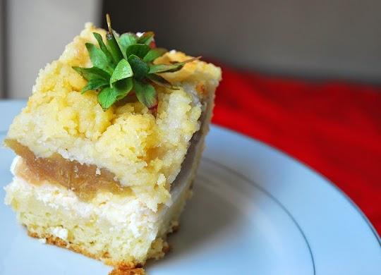 Ciasto serowo- rabarbarowe