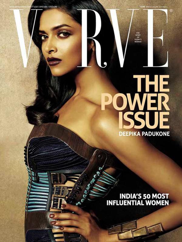 Deepika Padukone sizzles onn Verve Magazine Cover - June 2011