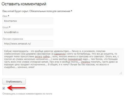 задание по добавлению комментария к статье на блоге, заработок на комментариях