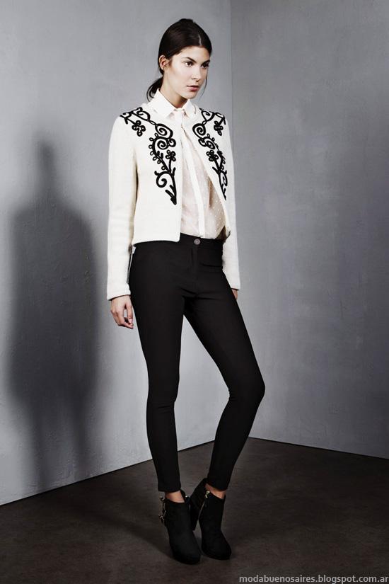 Chaqueta corta con bordados moda otoño invierno 2014 Mujer.
