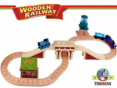 Sodor Thomas and Belle to the rescue of the farmhouse Thomas tank engine Wooden Railway set layout