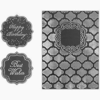 Spellbinders Interchangeable Embossing Folder Label Effect SBIF-004