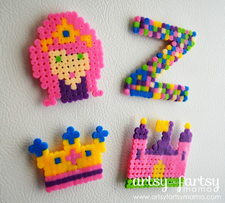 Melty Beads Princess Magnets