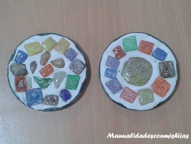 Manualidades Con Mis Hijas Mosaico Romano Reciclando Materiales