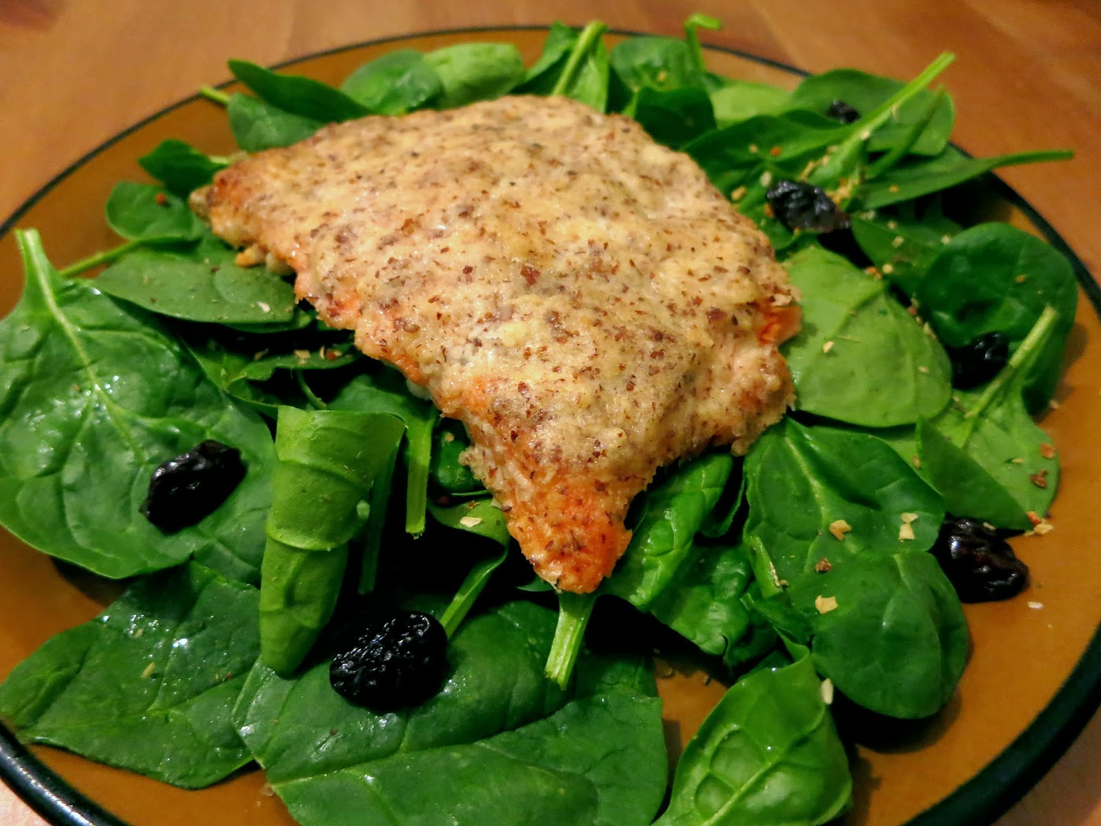 Almond and Parmesan Crusted Salmon
