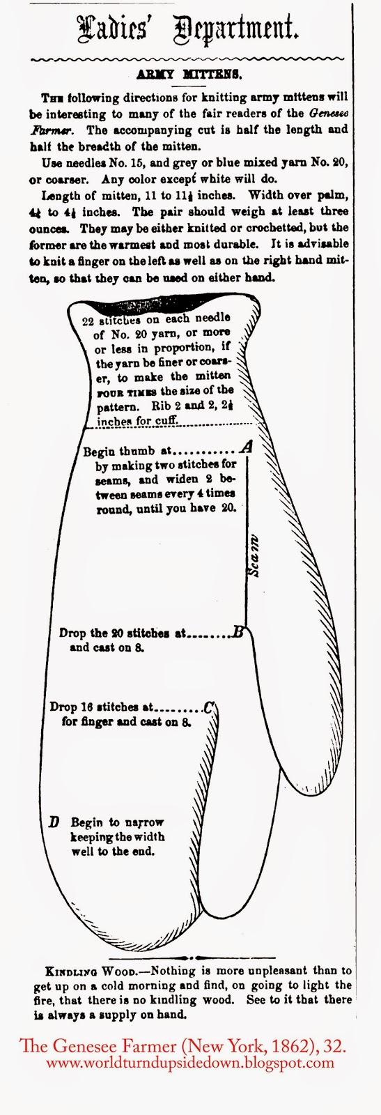 1860s Mitten pattern Free