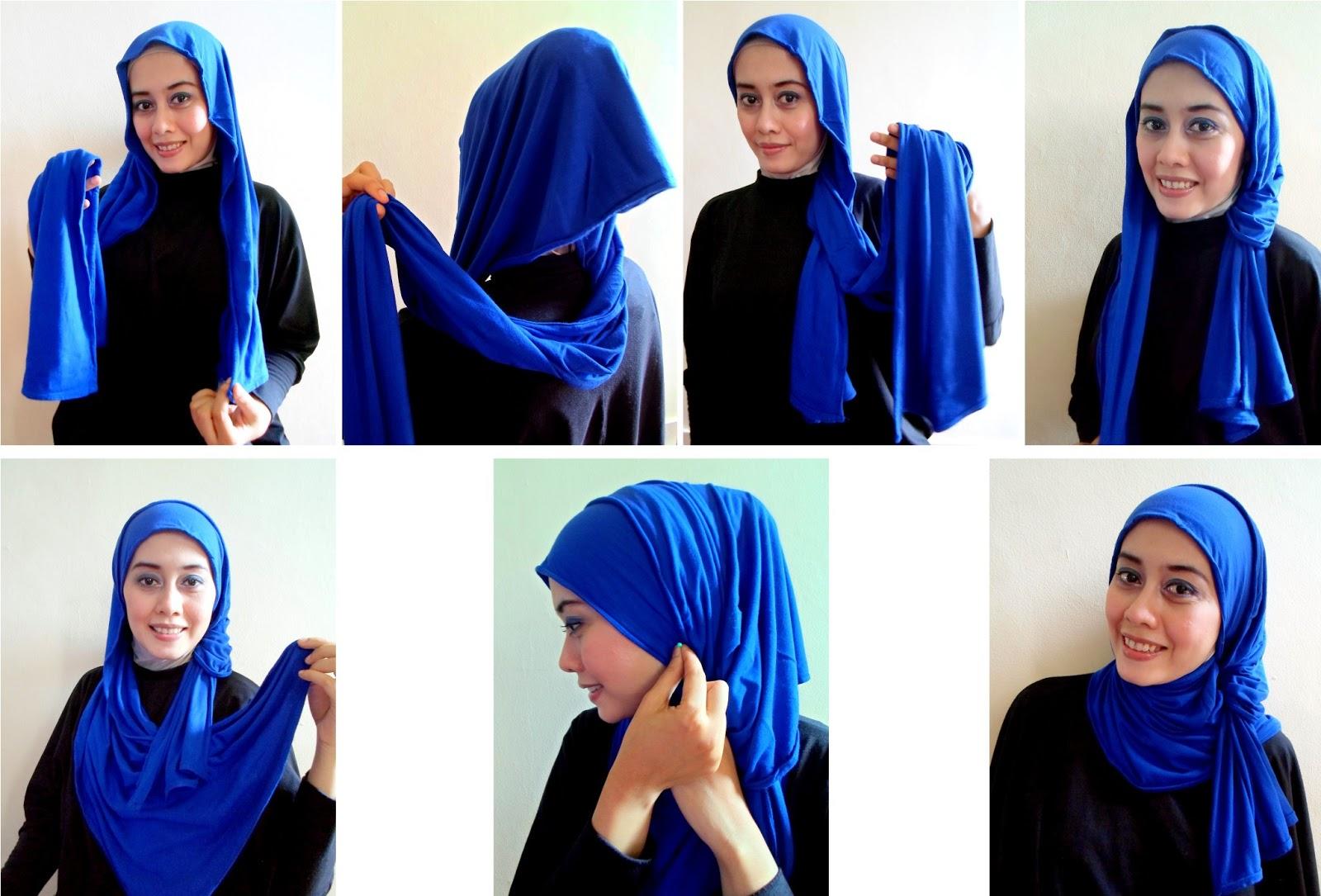 Tutorial Hijab Pashmina Kaos