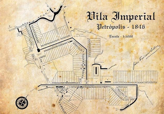 Croqui da Planta de Petrópolis 1846