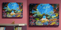 Coral Reef painting created for Willington Library