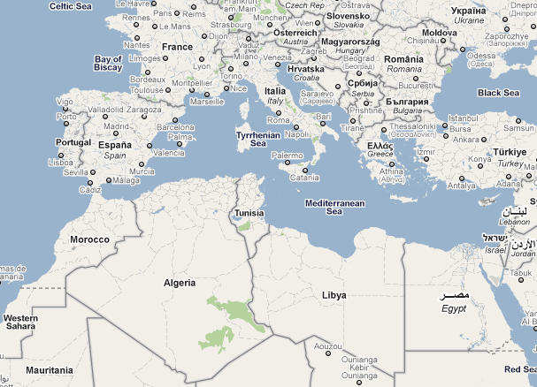 Algeria Spain Map - Portugal italy map
