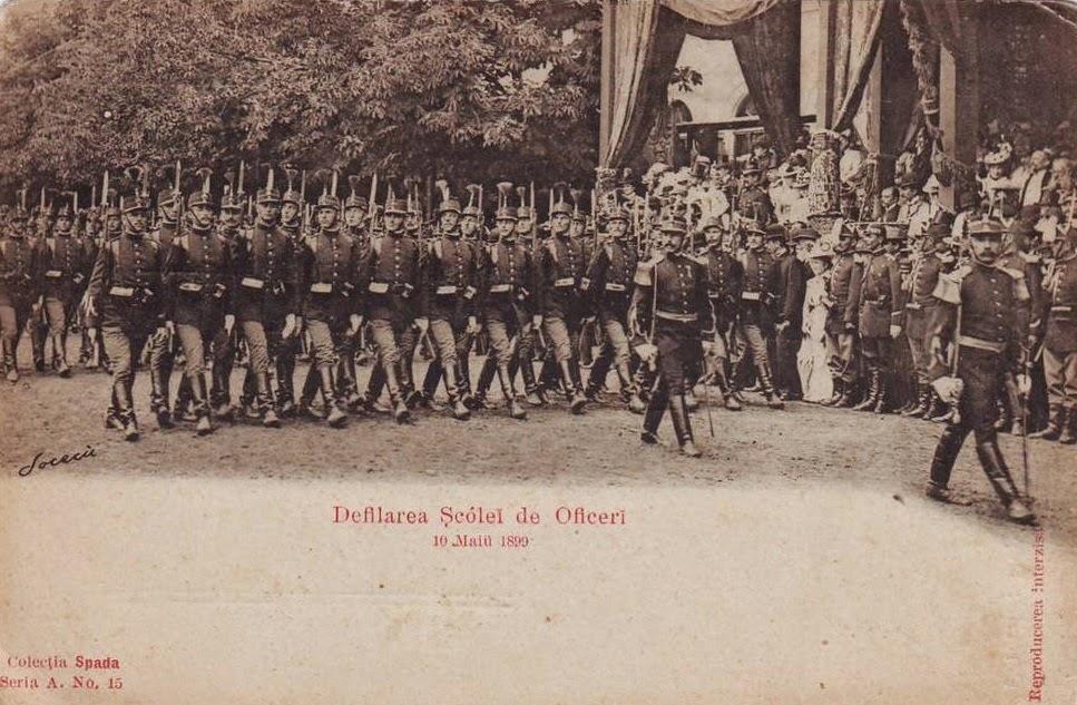 Defilarea Scolii de Ofiteri - 10 mai 1899
