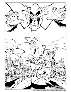 sonic coloring pages 6
