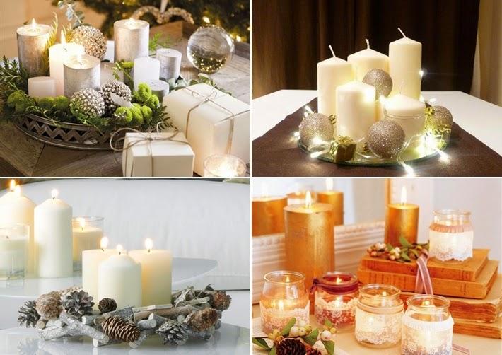 Resultado de imagem para decoração de casamento no Natal branco, verde e velas