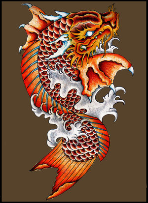 dragon koi tattoo koi fish tattoo. Black Bedroom Furniture Sets. Home Design Ideas