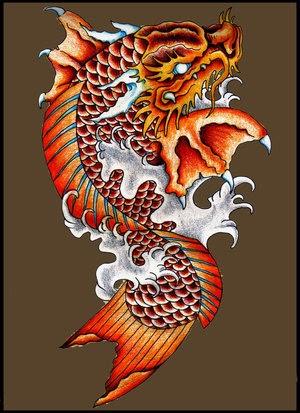 dragon koi tattoo koi fish tattoo. Black Bedroom Furniture Sets. Home Design Ideas